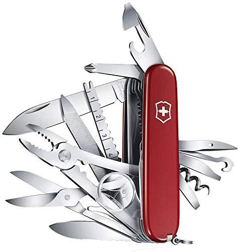 Victorinox Taschenmesser Swiss Champ (33 Funktionen, Kombi-Zange, Schere, Lupe, Holzsäge) rot