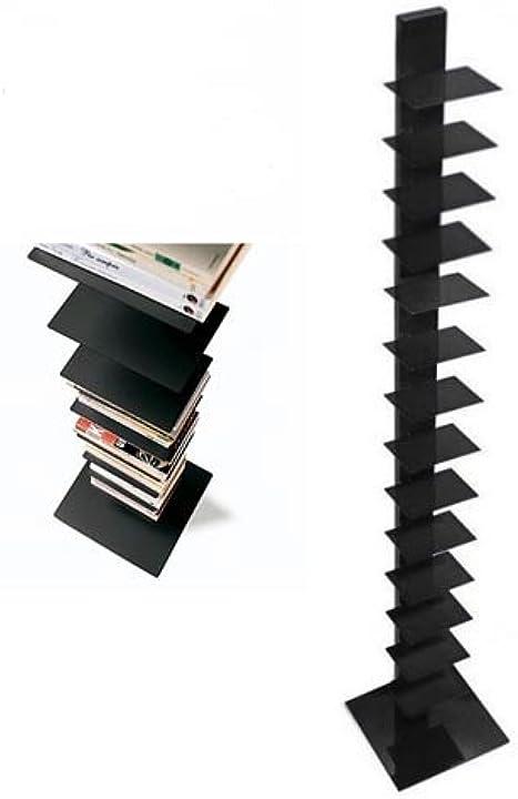 Libreria a colonna sapiens h 202 base 35x35 14 ripiani in metallo laccato nero opaco -sintesi B00FCZMFW4