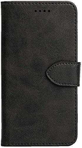 Funda para móvil Asus Zenfone 3 Max ZC520TL X008D de 5.2' negra, tipo libro, magnética, de TPU