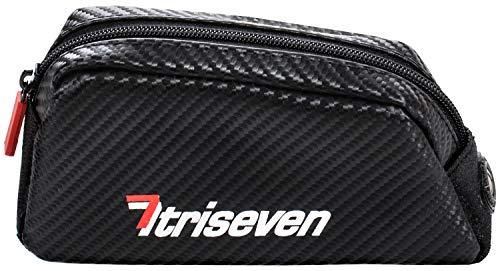 TriSeven Bolsa de Ciclismo Aero 20 Carbon Cycling - Almacenamiento liviano para triatlones y MTB | ¡Sostiene la mayoría de los teléfonos celulares, Carteras, 7 geles, Bombas, Herramientas y más!