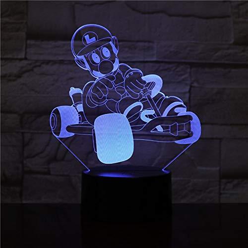 Only 1 Piece Game Super Mario Bros Action Figure Night Light LED 3D Bedroom Decorative Lamp Child Kids BabyNightlight Desk Lamp