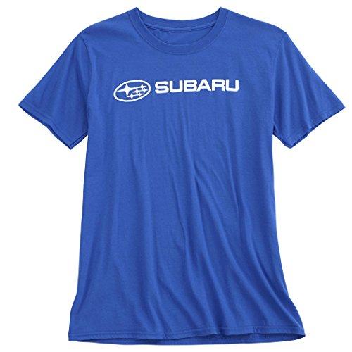 SUBARU Genuine Official Basic Blue Tee T Shirt Impreza Sti WRX Ascent Legacy Outback Forester BRZ Crosstrek New OEM Racing (Medium)
