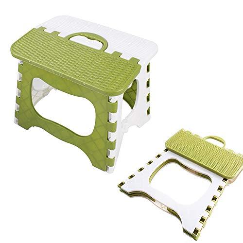 Taburete Plegable - WENTS Taburete Plegable Antideslizante Multiusos con parte superior antideslizanteTaburete plegable compacto fácil de almacenar, perfecto para cocina o baño
