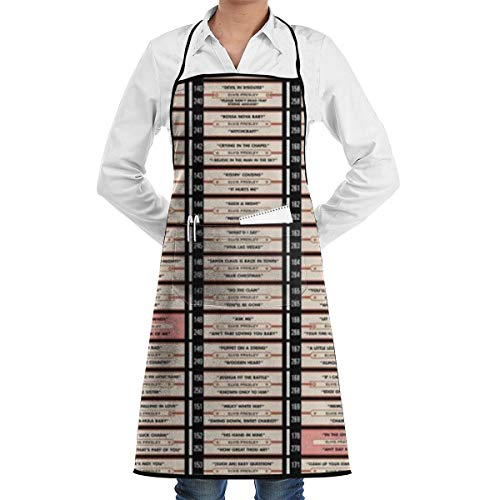 Music Retro Radio Dj Records Pop Funny Aprons 20 X 28 Inch for Men & Women with 1 Pockets Adjustable Waterproof and Oil Proof Best for Kitchen Cooking Grilling Baking Gardening Apron