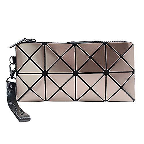 whatUneed Nouveau sac cosmétique de mode, sac de téléphone de sac à main de sac de maquillage de motifs géométriques
