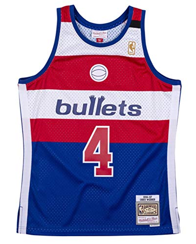 Chris Webber Washington Bullets 1996-97 Men's Hardwood Classics Swingman Jersey (Medium) Blue