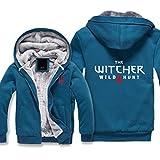 RLJZCD Calentar La Camiseta De Los Hombres Witcher 3 Impreso con Capucha Y Cremallera Chaqueta De Punto Otoño Invierno Chaqueta D-XX-Large