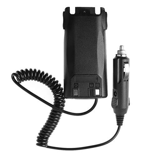 Triamisu Eliminador de batería de Coche UV-82 para Baofeng UV82 UV-82L UV-8D UV-89 UV-82HP Radio Walkie Talkie UV-82 Cargador de Coche - Negro