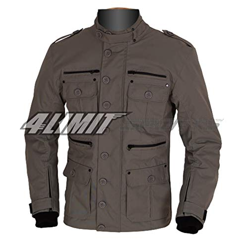 4LIMIT Sports Motorradjacke GENTLEMAN Outdoor Textil Jacke umbra-grau