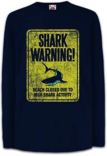 Urban Backwoods Shark Warning Sign II Camisetas de Manga Larga T-Shirt para Niños Niñas
