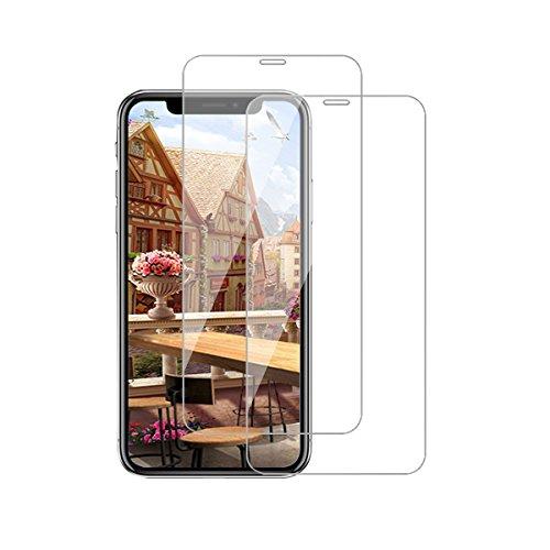 Kompatibel mit iPhone 12 Panzerglas Schutzfolie iPhone 12 Pro 3D Tempered Glas Schutzglas [2 Stück] HD Panzerfolie Anti-Kratzen Anti-Öl Displayschutzfolie (Clear, iPhone 12/12 Pro)
