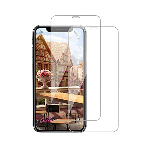 Kompatibel mit iPhone 12 Panzerglas Schutzfolie iPhone 12 Pro 3D Tempered Glas Schutzglas [2 Stück] HD Panzerfolie Anti-Kratzen Anti-Öl Displayschutzfolie (Clear, iPhone 12/12 Pro)