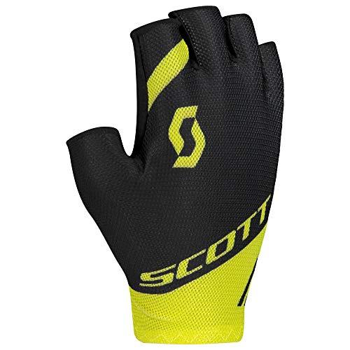 Scott RC Team Fahrrad Handschuhe kurz schwarz/gelb 2020: Größe: L (10)