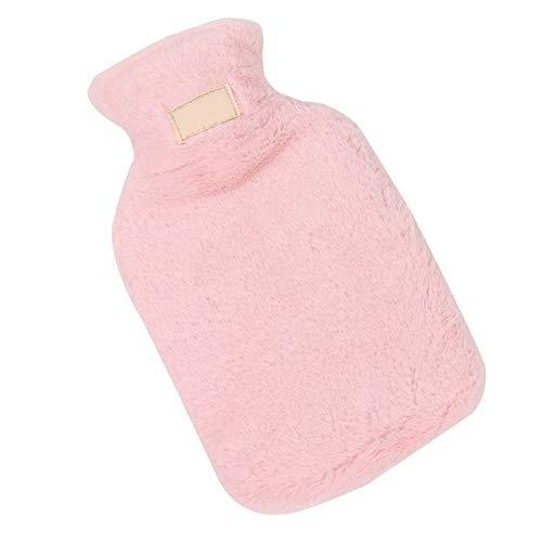 Bottiglia per esternoBorsa per acqua calda portatileinvernalecon coperchio Scaldamani in gomma per scaldamani riempito d'acqua - Bianco