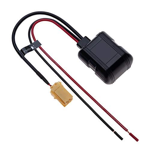 6-Pin Coche Módulo Bluetooth Adaptador de Música Inalámbrica Auxiliar Estéreo Cable de Audio | Compatible con Renault Laguna Megane Scenic Trafic Twingo Modus Master Clio Espace Kangoo | 12V