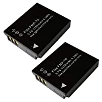 【JC】 2個セット 富士フィルム/FUJIFILM NP-70 互換バッテリー FinePix F40fd 対応