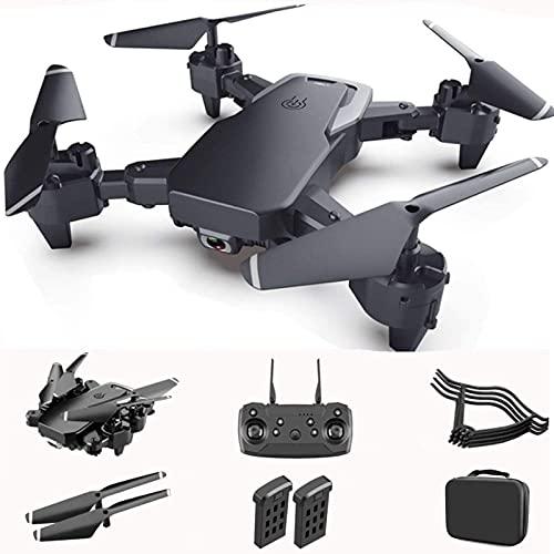 J-Clock Droni per Bambini con Fotocamera 4K per Adulti Drone per Principianti con Visione Notturna Quadricottero Rc con One-Key Decollo e Atterraggio modalità Headless con 2 Batterie e Custodia