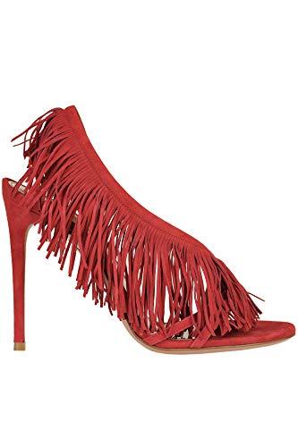 AQUAZZURA Luxury Fashion Damen MCGLCAT0000A7014E Rot Wildleder Sandalen | Jahreszeit Outlet