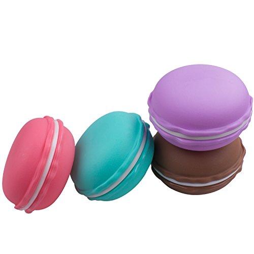 ZEWOO Kopfhörer Box 4 Macarons-Tasche Ohrhörer Schmuck Medikamente Ring Ohrringe Aufbewahrungsbox 4