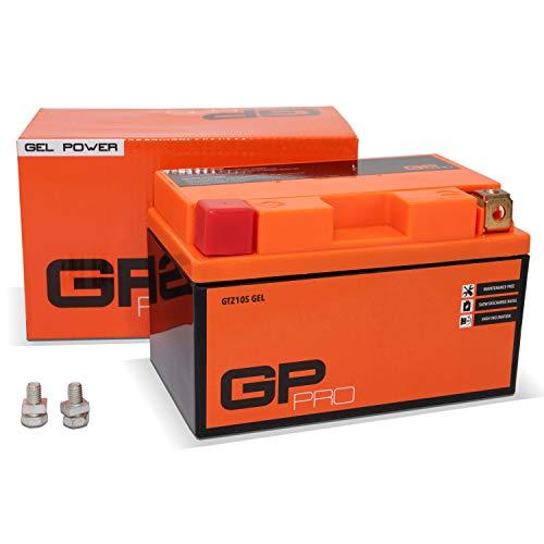 GP-PRO GTZ10S 12V 9Ah GEL Batería de arranque (compatible con YTZ10S / YTZ10-BS) (Sin necesidad de mantenimiento / Sellado) Moto Acumulador