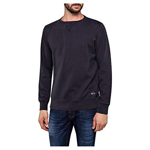 Replay Jeans Replay - Sudadera de algodón para Hombre, edición Limitada, Color Azul Marino Azul Azul Marino Medium