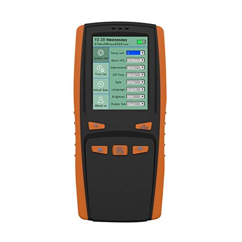 W-L El ozono de Mano portátil Analizador de ozono O3 Medidor Detector de Gas ozono Intelligent Sensor Medidor de Calidad del Aire pollutio Monitor de Calidad del Aire (Color : 7HH1501881)