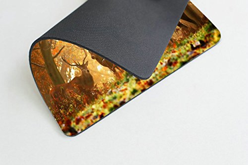 Smooffly Wildlife Gaming Mouse Pad,Milu Deer Mouse Pad Photo #2