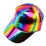 LIOOBO Gorra de Béisbol Holográfica 80S Cosplay Holográfica Galaxy Rave Hip Hop Disfraz Sombrero