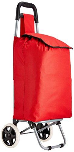 MSV Carrito de la Compra con 2 Ruedas, Rojo, 91 x 35 x 29