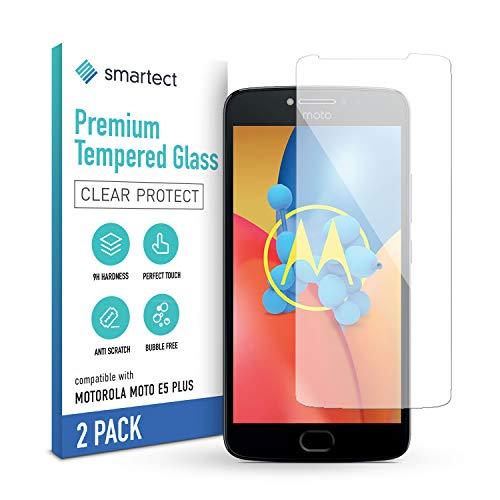 smartect Pellicola Protettiva per Motorola Moto E5 Plus [2 Pezzi] - 9H Vetro Temperato Proteggi Schermo - Design Ultra Sottile - Applicazione Anti-Bolle - Anti-Impronte