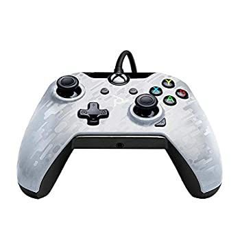 PDP Gaming Wired Controller  White Camo - Xbox One