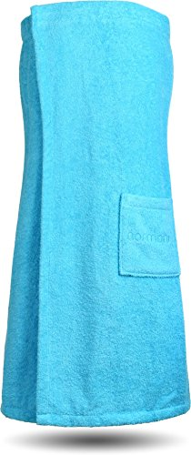 normani Saunakilt Saunatuch für Damen 100% Bio Baumwolle mit praktischem Schnellverschluss Oeko-Tex® 100 Farbe Türkis