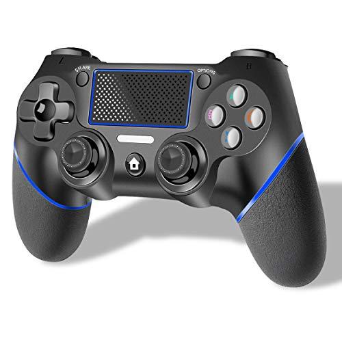 CHEREEKI Mando para PS4, Mando Inalámbrico para PS4 / PS4 Pro / PS4 Slim, con Pantalla Táctil de Vibración Dual de Seis Ejes, Compatible con Playstation 4