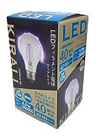 KIRALI LEDフィラメント電球 40W形相当 全方向タイプ E26口金 クリアタイプ 密閉器具対応【PSE認証済み】 (昼白色, 40W形)