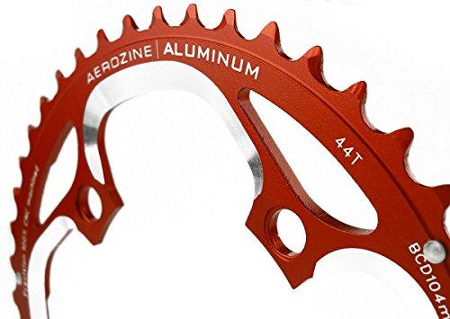 Aerozine Corona 44Denti Foro Circolare 104mm 9/10fach CNC Arancione