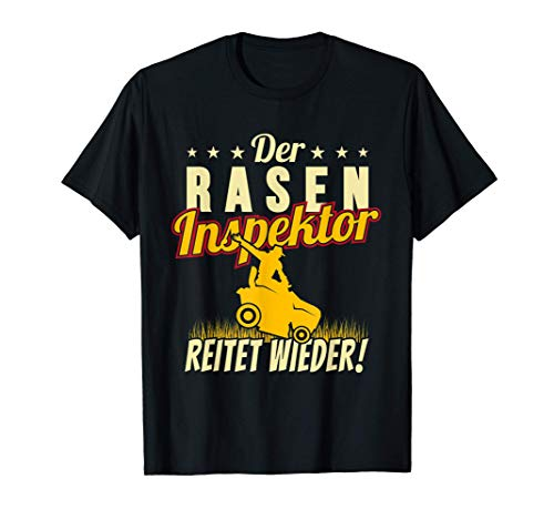 Raseninspektor Platzwart Aufsitzmäher Rasenmäher Rasen mähen T-Shirt
