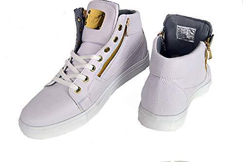 Barbossa Young Fashion DJ Party Style VIP Mode Herren Schuhe/Halbschuhe WEIß (44 EU, Weiß)