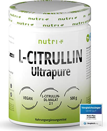 L-CITRULLIN MALAT PULVER 500g - hochdosiert + vegan + rein - Testsieger - Bodybuilding, Fitness und Sport - L-Citrulline Malate DL 2:1 Powder - Premiumqualität - Aminosäure