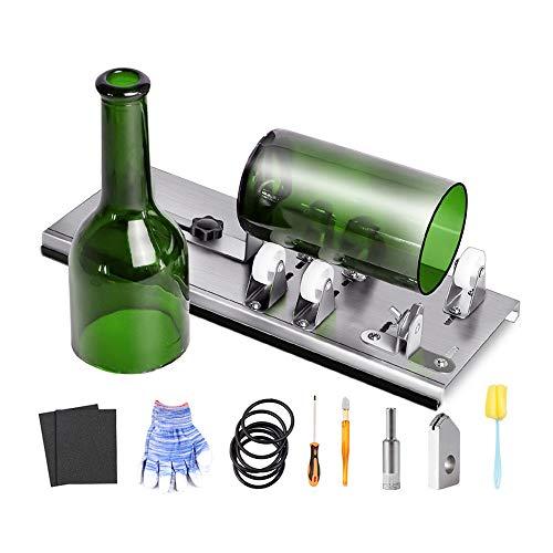 Snowtaros Glasschneider für Flaschen, Flaschenschneider Kit mit 5 verstellbaren Rädern für DIY Lampen,...