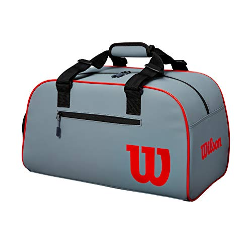 Wilson Bolsa de tenis, Clash, Pequeña, Gris/negro/rojo, WR8002501001