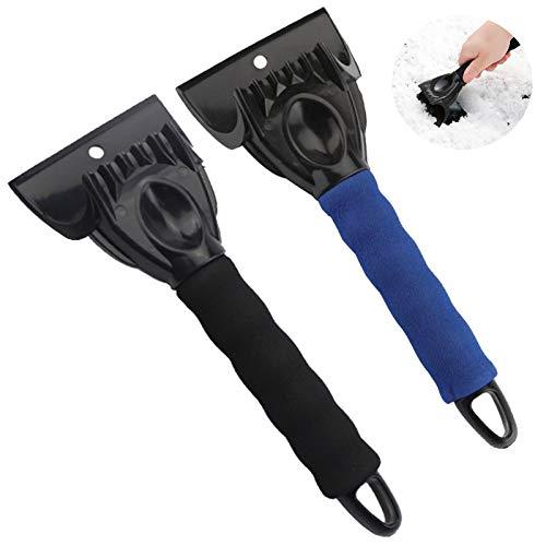 Gqavril12 Rasqueta para Hielo Raspador de Hielo de plástico Rascadores de Hielo para Coche Parabrisas de Coche Pala de Nieve Pala de Hielo para Coche para Parabrisas(2 Piezas)