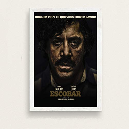baodanla Pablo Escobar Hot Berühmte Kunst Malerei Vintage Leinwand Poster Wand Wohnkultur60x90cm(Kein Rahmen)