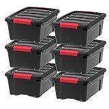 IRIS USA, Inc TB-42 Stack & Pull Storage Box, 12 Quart, Black