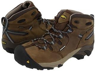 Keen Utility(キーン) メンズ 男性用 シューズ 靴 ブーツ 安全靴 ワーカーブーツ Detroit Mid - Slate Black/Brindle [並行輸入品]