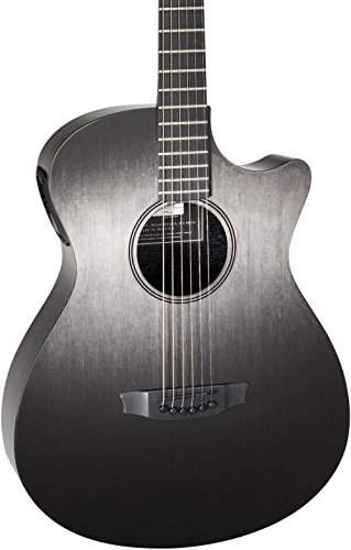 RainSong Concert Hybrid Series CH-OM Acoustic-Electric Guitar with L.R. Baggs Stagepro Element Electronics Pinstripe Rosette