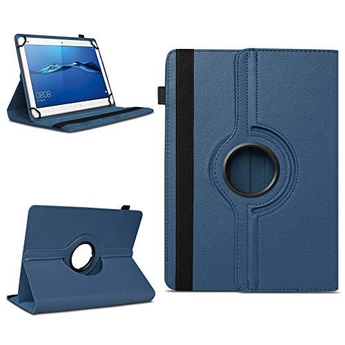 NAmobile Schutzhülle kompatibel für Huawei MediaPad T1 T2 T3 T5 10 Tablet Hülle Tasche Schutzhülle Hülle 360 Drehbar, Farben:Blau