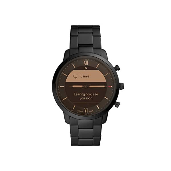 Fossil Men's Neutra Hybrid Smartwatch HR with Always-On Readout Display & Heart Rate & Activity Tracking & Smartphone Notifications & Message Previews
