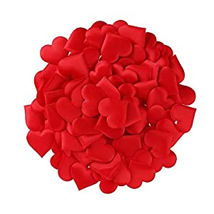 REHTRAD 100 Pcs Artificial Fake Rose Petals for Wedding, Event, Party, Decoration(Red,100 Pcs,3.5 x 2.5CM)
