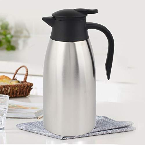 Tomantery Olla De Vacío, Olla De Café con Aislamiento De Acero Inoxidable Europeo 304 Ergonómico Antipolvo para Té para Bebidas