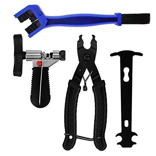 BOJON Fahrrad Link Zange+Fahrrad Ketten Werkzeug+Ketten Prüfer Fahrrad Reparatur Werkzeug Set (Schwarz)